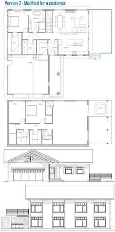 House Plan Modern House Plan to Modern Family. New House Plans, Modern House Plans, House Floor Plans, Architectural House Plans, Steel House, Farmhouse Plans, Maine House, Cottage Homes, Architecture Design