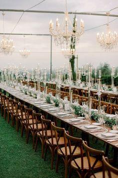 Glam outdoor wedding details Outdoor Wedding Reception, Outdoor Weddings, Wedding Reception Decorations, Wedding Table, Real Weddings, Wedding Ceremony, Our Wedding, Table Decorations, Grandma Birthday