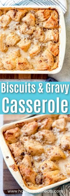 When it comes to breakfast casseroles, the savoriest and most delicious of them all just might be this Biscuits and Gravy Casserole. Made with a homemade sausage gravy, eggs, just enough cheese, and Biscuits And Gravy Casserole, Breakfast Casserole With Biscuits, Sausage Gravy And Biscuits, Savory Breakfast, Morning Breakfast, Overnight Breakfast, Mexican Breakfast, Breakfast Pizza, Vegetarian Breakfast