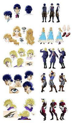 JoJo's Bizarre Adventure Anime, Character Design Art Reference Poses, Drawing Reference, Otaku, Character Sheet, Character Design, Jojo's Bizarre Adventure Characters, Jojo Memes, One Piece Manga, Jojo Bizzare Adventure