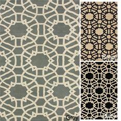 nuLOOM Handmade Art Deco Trellis Wool Rug (5' x 8') | Overstock™ Shopping - Great Deals on Nuloom 5x8 - 6x9 Rugs