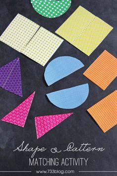 seven thirty three - - - a creative blog: Shape  Pattern Preschool Activity