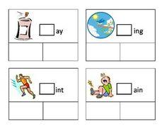 Three consonant blend task cards.