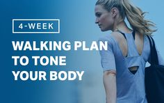 Combine cardio and strength moves in this total-body walking plan. Walking Program, Walking Plan, Walking Challenge, Squat Challenge, Jen Selter, Michelle Lewin, Mma, Body Weight, Weight Loss
