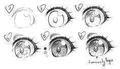 Manga Drawing Tips Simple Anime Eye Realistic Eye Drawing, Drawing Eyes, Manga Drawing, Manga Art, Female Drawing, Anime Manga, Anime Art, How To Draw Anime Eyes, Manga Eyes