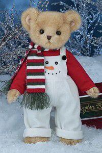 """Bearington - Christmas Holiday Bear """"Freddy Freeze"""" - 14 Inches and Retired Teddy Bear Hug, Cute Teddy Bears, Bear Hugs, Frozen Snowman, Vermont Teddy Bears, Teddy Bear Pictures, Christmas Teddy Bear, Bear Graphic, Boyds Bears"""