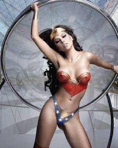 Wonder Woman now in Painted Bodywear.