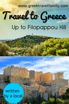 A walk in the centre of Athens (Greece). Stroll around and go up to Filopappou Hill, in order to admire Acropolis and Parthenon from above. Parthenon, Acropolis, Athens Greece, Greece Travel, Greek Islands, Cool Places To Visit, Family Travel, Tours, Activities