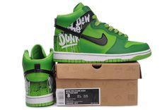 Nike Dunk High Custom Do The Dew Green Green