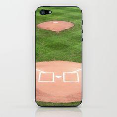 Baseball field /Baseballfeld iPhone & iPod Skin by Karl-Heinz Lüpke - $15.00