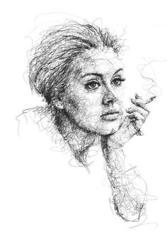 Adele by Vince Low Cool Art Drawings, Realistic Drawings, Cool Artwork, Pencil Drawings, Drawing Ideas, Portrait Sketches, Portrait Art, Art Sketches, Portraits