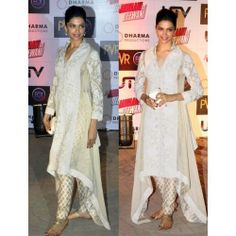 Online Shopping for Deepika padukone white Elegant long | Salwar Suit | Unique Indian Products by Purple Oyster - MPURP87543180870