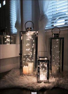 Wunderschöne Dekoidee für eine gemütliche Winterzeit. #Wohnzimmer