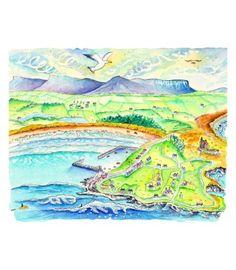 Irish Art Print of Mullaghmore Sligo Ireland by Lanis Suf Art Irish Art, Surf Art, Surfing, Vibrant, Art Prints, Artist, Artwork, Products, Art Impressions