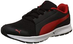 d6f382771733 Puma Men s Black-High Risk Red Running Shoes-10 UK India (44.5