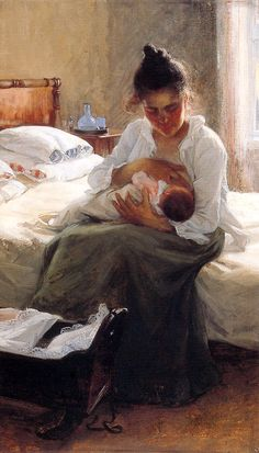 Motherhood  by Elin Danielson Gambogi  (1861 – 1919, Finnish)