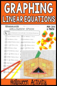 Check out this fun graphing linear equations activity for Halloween. This free product is perfect for your middle school math, Algebra and 8th grade math students to practice graphing linear equations. A no prep activity that goes beyond a basic worksheets and will engage your students and make lesson planning a breeze. Click here to use it now in your math classroom. #makesenseofmath Halloween Worksheets, Halloween Math, Algebra Games, Math Assessment, Fun Math Activities, Math Lesson Plans, 8th Grade Math, Math Concepts, Lesson Planning