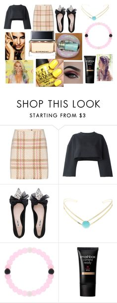 """""""Photoshoot with Britney"""" by larryandtarillforeverr14 ❤ liked on Polyvore featuring MARC CAIN, adidas Originals, Miu Miu, claire's, Smashbox, Givenchy and Britney Spears"""