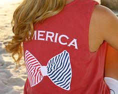 Tons of cute options on Etsy! American Clothing, American Apparel, American Corn, Vintage Marketplace, God, Clothes For Women, Tank Tops, Cute, Dios
