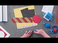 Imagine Layout Project with the Teardrop Lattice Border Punch by Creative Memories - YouTube