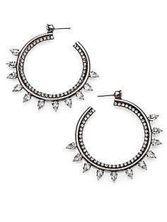 """DANNIJO Caroline Crystal Hoop Earrings/2.25"""""""
