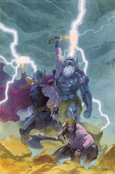 The All Father - Odin Borson, Thor Cover by Esad Ribic