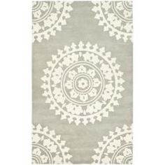 Handmade Soho Chrono Grey/ Ivory New Zealand Wool Rug (3'6 x 5'6') $90 Overstock