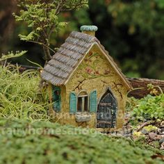 Fairy Homes and Gardens - Miniature Brookside Cottage, $25.99 (http://www.fairyhomesandgardens.com/miniature-brookside-cottage/)