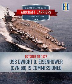 USS DWIGHT D EISENHOWER CVN 69 Silhouette Decal U S Navy USN