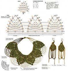 crocheted necklace & earrings