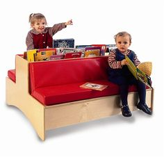 Double-Sided Kids Reading Couch-Waiting Room Furniture