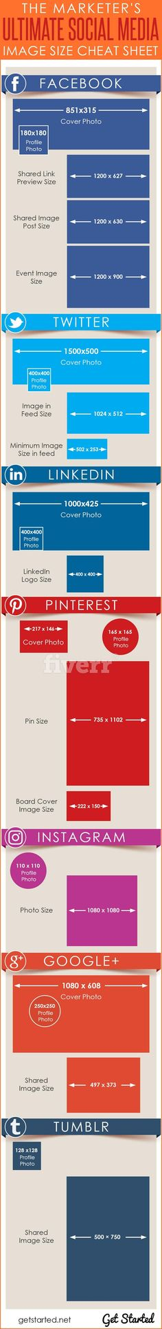 The Marketer's Ultimate Social Media Image Sizes Cheat Sheet for 2017 - Get the Embed Code for your website here now!