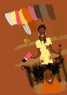 Natural Hair Art; i need this picture in my house....#childhoodmemories