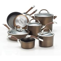 Circulon Symmetry Chocolate Hard-anodized Nonstick 11-piece Cookware Set http://www.overstock.com/6243251/product.html?CID=245307