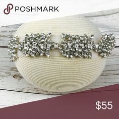 Rhinestone bridal headwear, bridal headband Is a beautiful beaded headband made with rhinestone set on a clear mesh . Perfect for any occasion or for that modern bride to be Accessories Hair Accessories