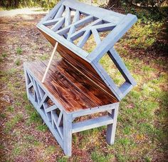 Outdoor Convertible Coffee Table and Bench - Handmade Haven