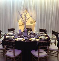 Tree Centerpiece White and Purple Wedding