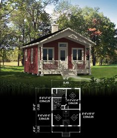 Garden Dream tiny house floor plan for building your dream home without spending a fortune. Your tiny house doesn't have to be ugly or weird - just look at these architectural masterpieces! Chose from traditional plans to mobile tiny house plans that will Tiny Cabins, Tiny House Cabin, Tiny House Living, Tiny House Design, Small House Plans, House Floor Plans, Tiny Home Floor Plans, Micro House Plans, Shed To Tiny House