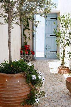 Ionian courtyard in Alonnisos island, Greece