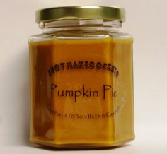 Homemade Pumpkin Pie Soy Candle- Love the smell of this candle!