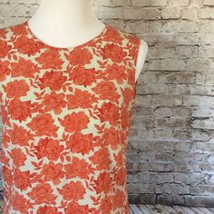 ❄Sale❄Agnis b. Paris top This is a amazing top so very beautiful!! It's in great condition, it's 100% polyester. Has tie in back. The color of the flowers are a reddish orange Agnis b. Tops Blouses