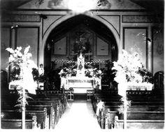 Inside Holy Cross around 1900