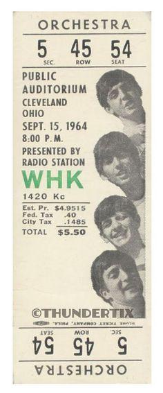11 1964 THE BEATLES FULL UNUSED CONCERT TICKETS scrapbooking frame reprint set 2