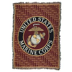 This Marines Tapestry Throw is a colorful tribute to the men and women that help in times of trouble and keep us safe and features the seal of the United States Marine Corps on a soft, heavy, warm throw.Throw measures x for the couch! Military Girlfriend, Military Love, Military Spouse, Marines Logo, Us Marines, Army Wives, Navy Seals, Marine Corps, Usmc