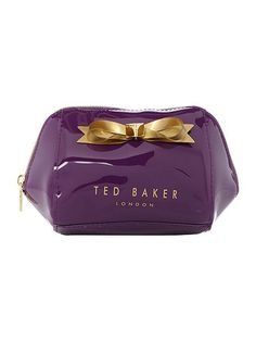 Damika purple small bow cosmetic bag