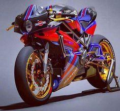 Ducati Racing bike White Motorcycle, Cafe Racer Motorcycle, Concept Motorcycles, Racing Motorcycles, Racing Bike, Custom Moped, Custom Bikes, Martini, Futuristic Motorcycle