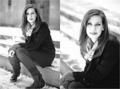 Snowy outdoor portrait photography - model poses - redhead - winter portraits of women | Photos by Lauren D. Rogers Photography www.laurendrogers.com