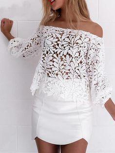 Blusa de Renda Ciganinha - Compre Online   DMS Boutique