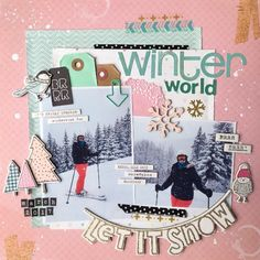 Winter world. Crate Paper - Snow and Cocoa.