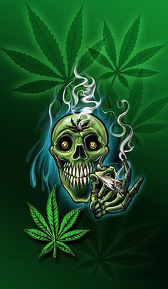 ... skull #paintings #drawings #pot #pot head # marijuana #phonecase